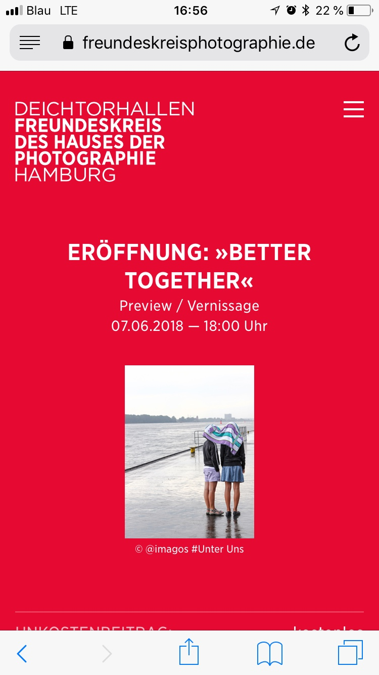Freundeskreis des Hauses der Photographie – Eventseite